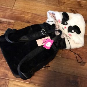 ⏰1HR SALE⏰- Betsey Johnson Panda Hoodie Backpack